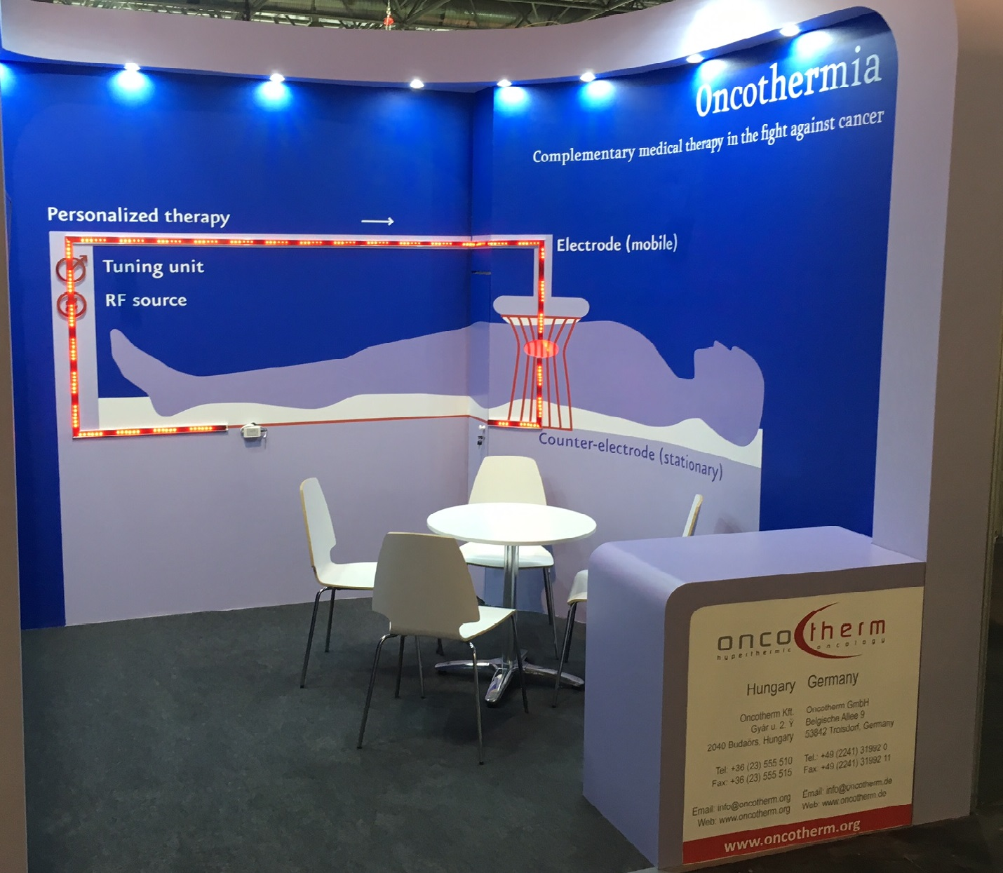 Booth of Oncotherm at ESTRO