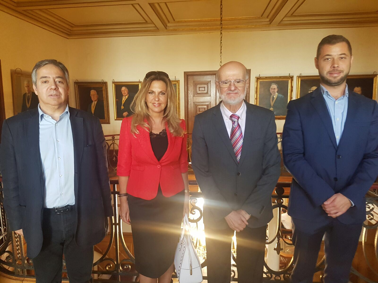 Mr. Pedro Meireles Sobral, Ms. Rosa Sanches, Prof. Szász András and Mr. Soma Benke
