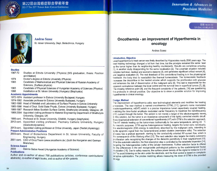 Oncothermia-an improvement of Hyperthermia in oncology-Prof. Dr. András Szász