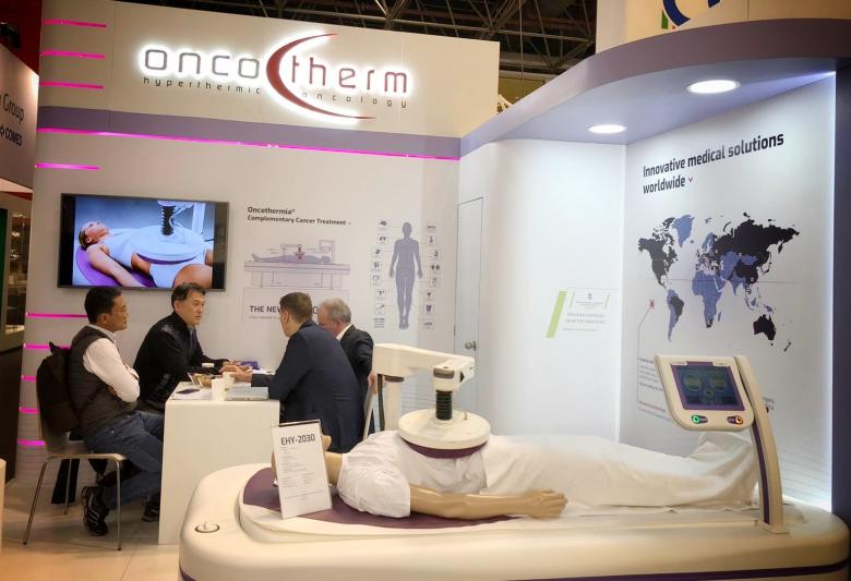 The Oncotherm booth